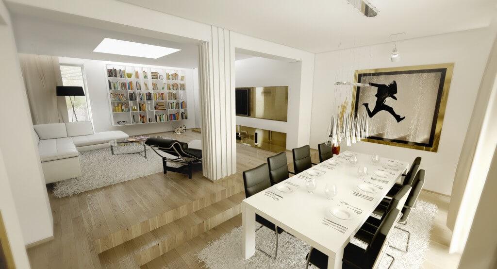 návrhy interiérov - jedáleň