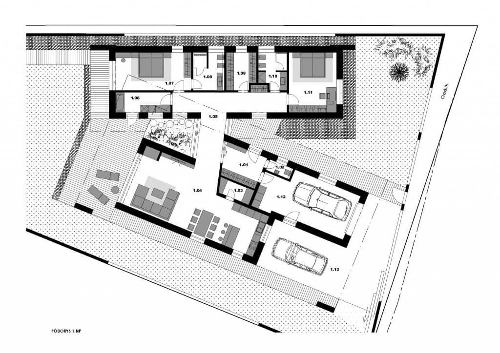 Pôdorys rodinného domu - Michalovce
