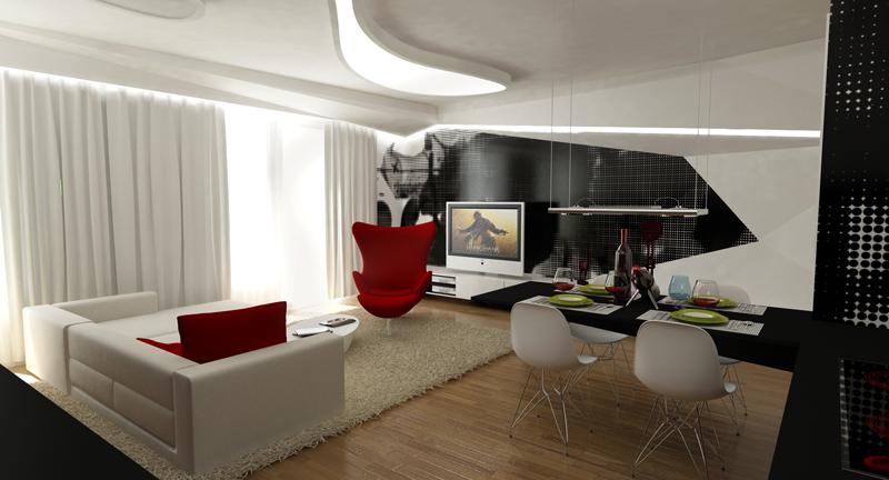bytový architekt - obývačka