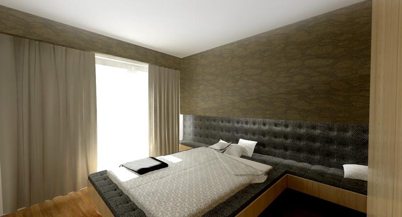 návrhy interiérov - spálňa