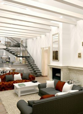 moderný interiér domov - Ciglád