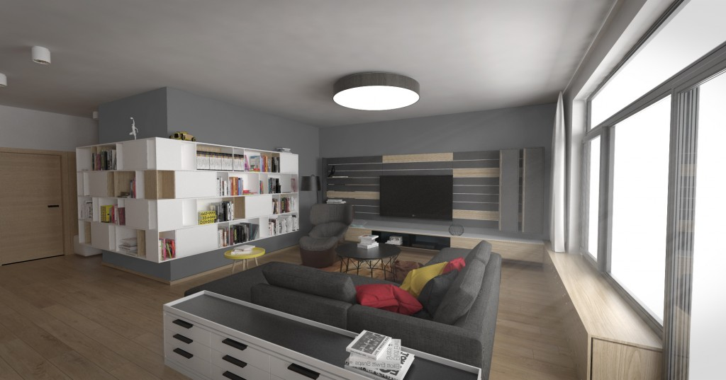 Dizajn interiéru obývačka