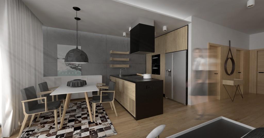 Interierový dizajn kuchyne - moderná architektúra