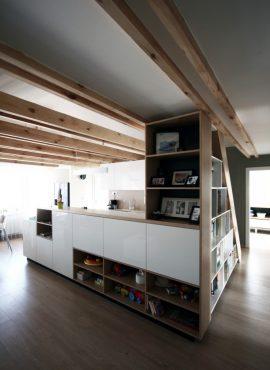 Podkrovné izby - podkrovná obývačka