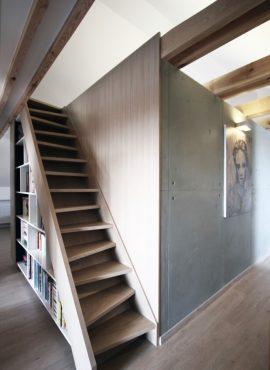 Podkrovné schody - návrh interiéru