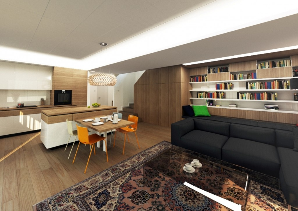 Dizajn interiéru - kuchyne s obyvackou