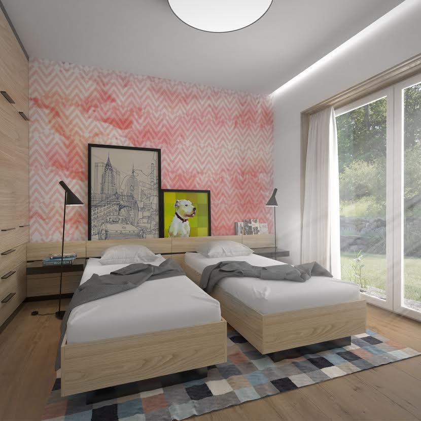 interiérový architekt - spálňa