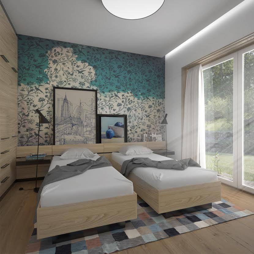 Interiér rodinného domu - spálňa