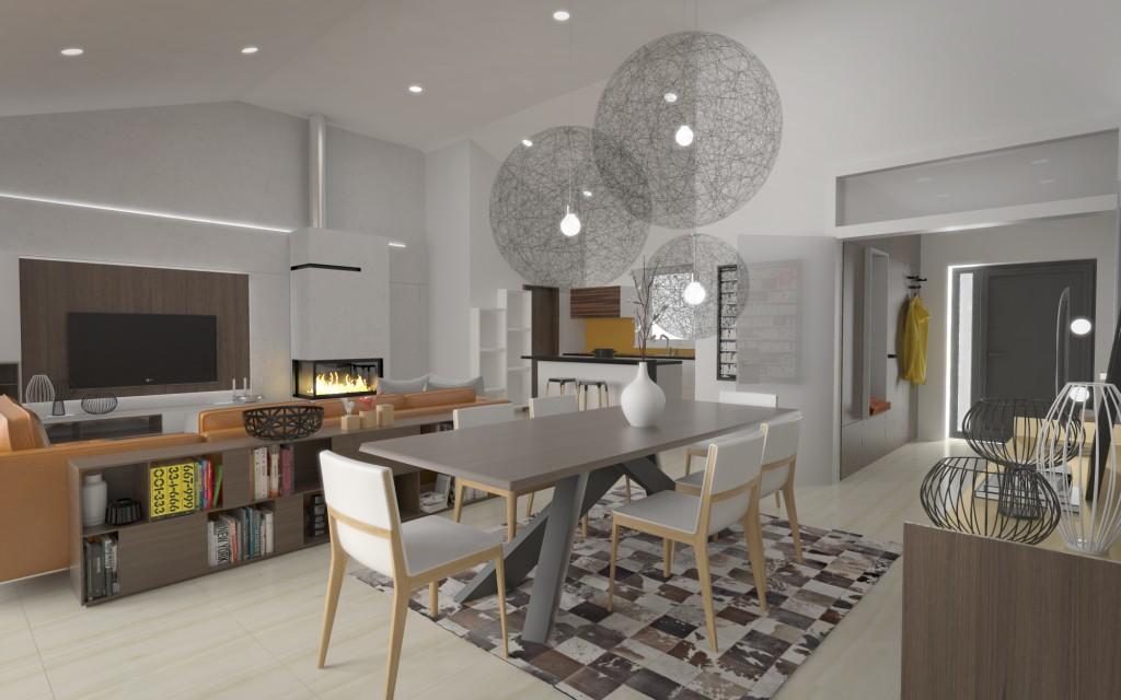 Interiérový dizajn - dvojgeneračný dom