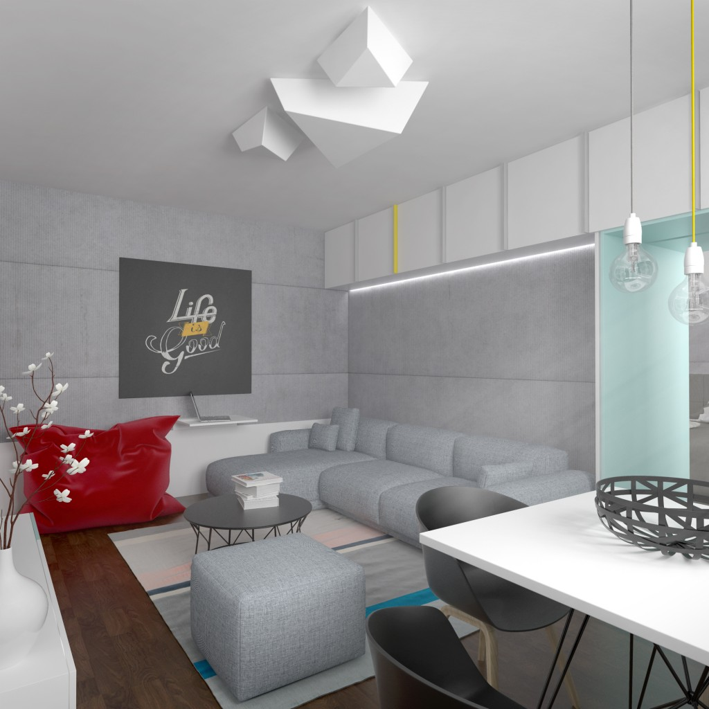 Interiérový dizajn - obývacia časť