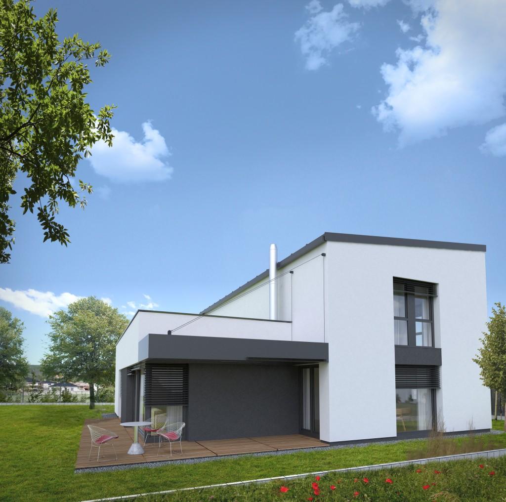 Moderná architektura domu - minimalistická