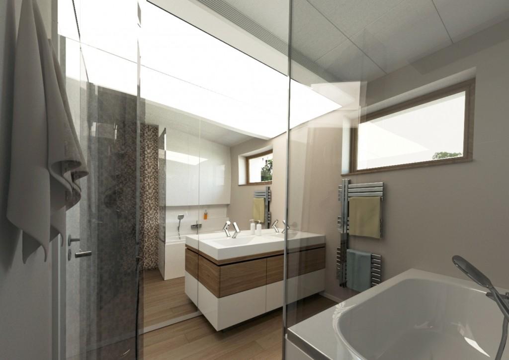 Moderná kúpelňa - architekt bratislava
