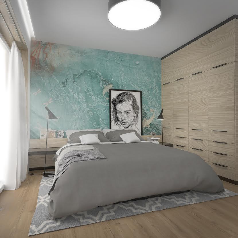 Moderny interiér domu - spálňa
