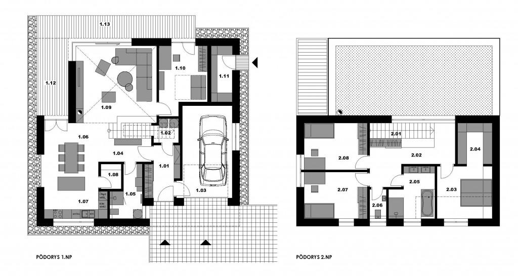 Pôdorys moderného domu