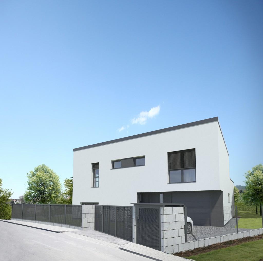 Poschodový dom s garážou - architektura