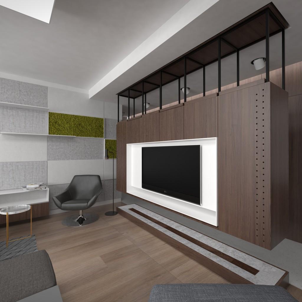 TV stena - Interierový dizajn