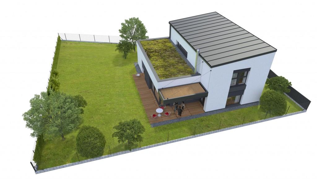 Vizualizácia domu - nadčasová architektura