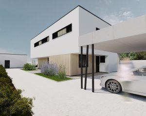 Rovná strecha na dome
