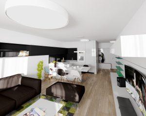 Návrh interiéru obývačky - bytový dizajnér, Bratislava