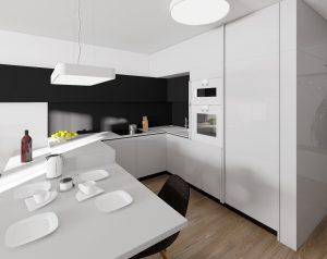 Interiérový dizajn kuchyne - návrh