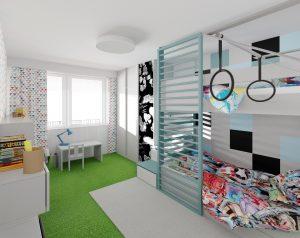 Návrh interiéru detskej izby -  bytový dizajnér, Bratislava