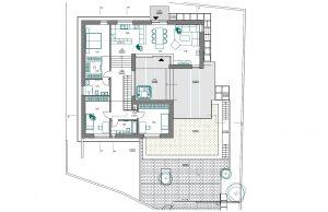 Dom vo svahu projekt - architekt Bratislava