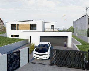 Moderné domy vo svahu