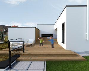 3d vizualizácia domu