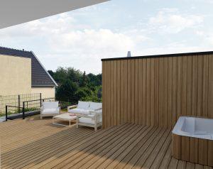 Dom s terasou - projekt
