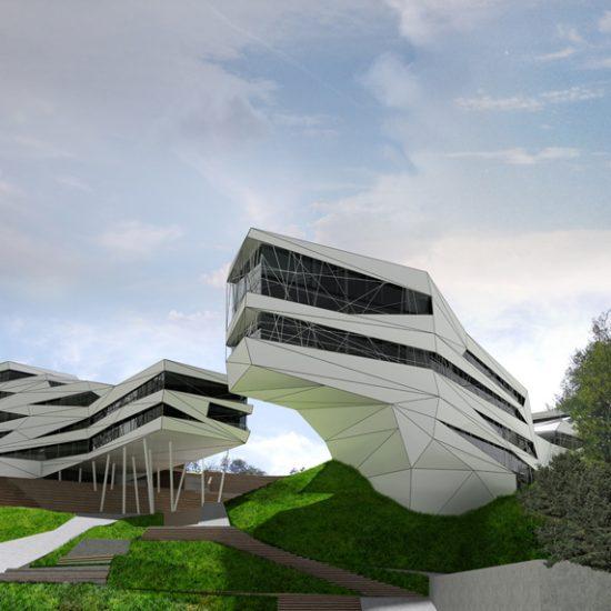 moderná architektúra - projekt, amfiteater bratislava