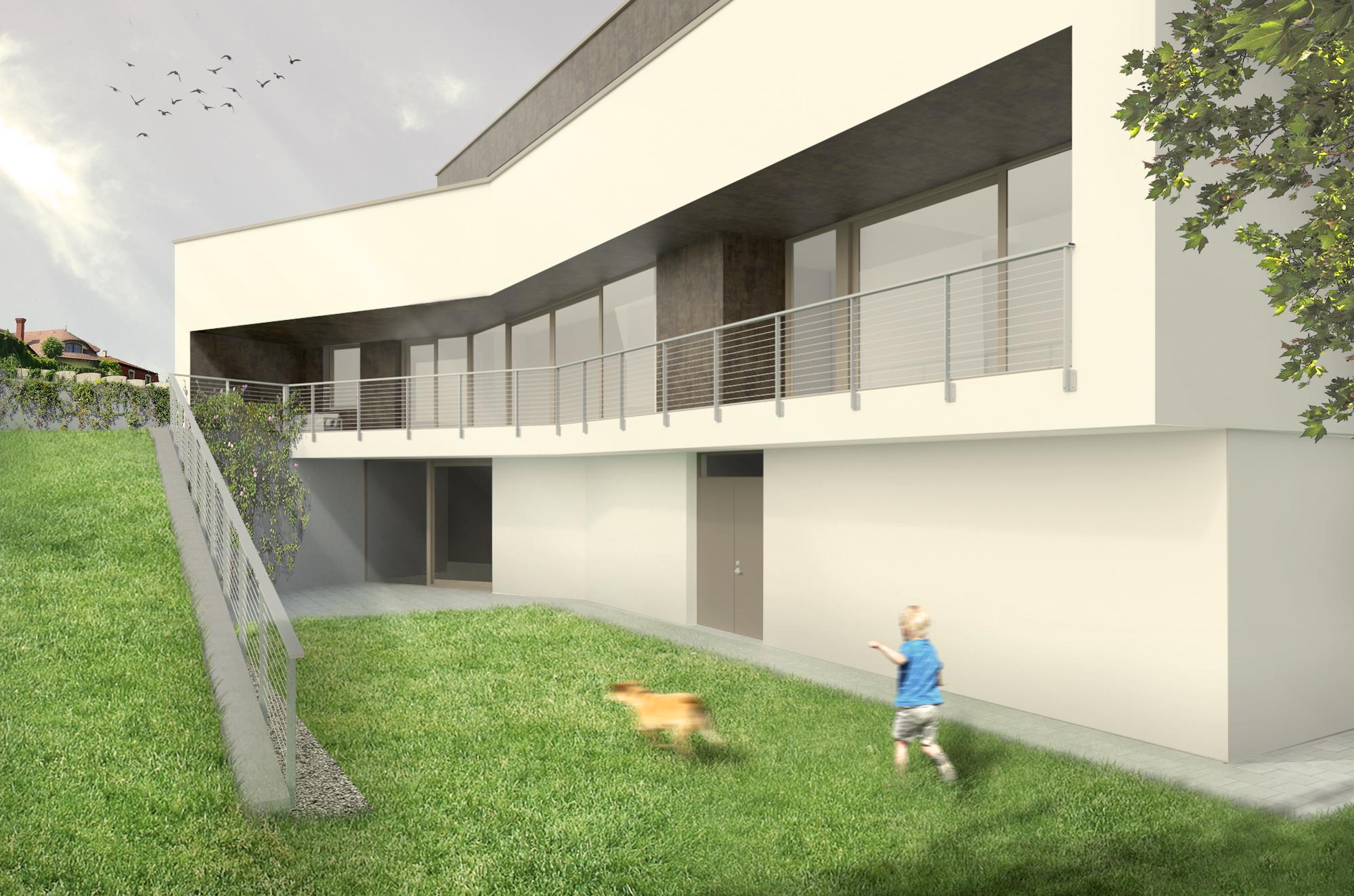 projekty rodinných domov na svahovité pozemky
