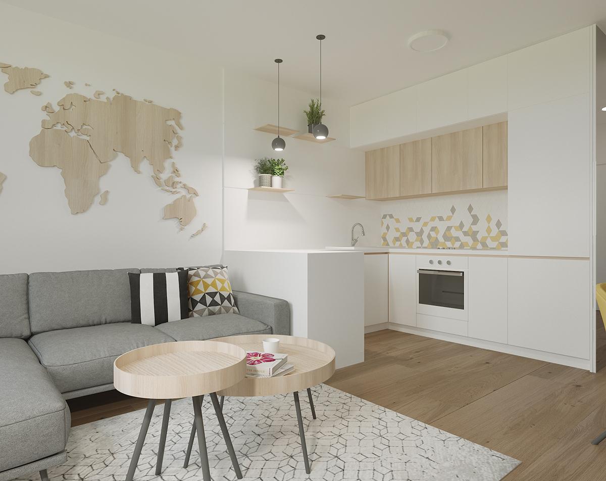 prerábka bytu inšpirácie - obývačka, zariadenie malého bytu