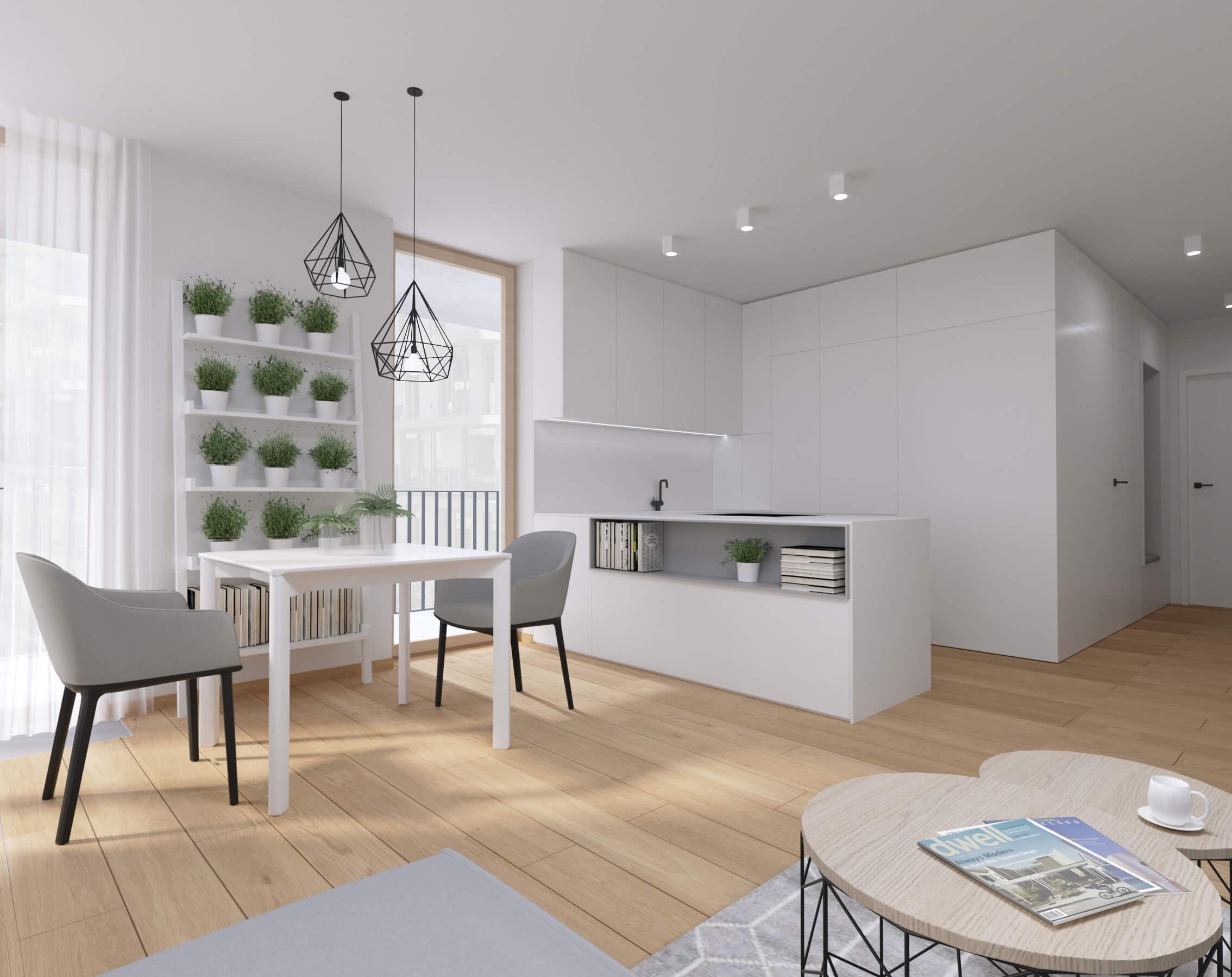 moderné zariadenie bytu obývačka Nido byty, Bratislava