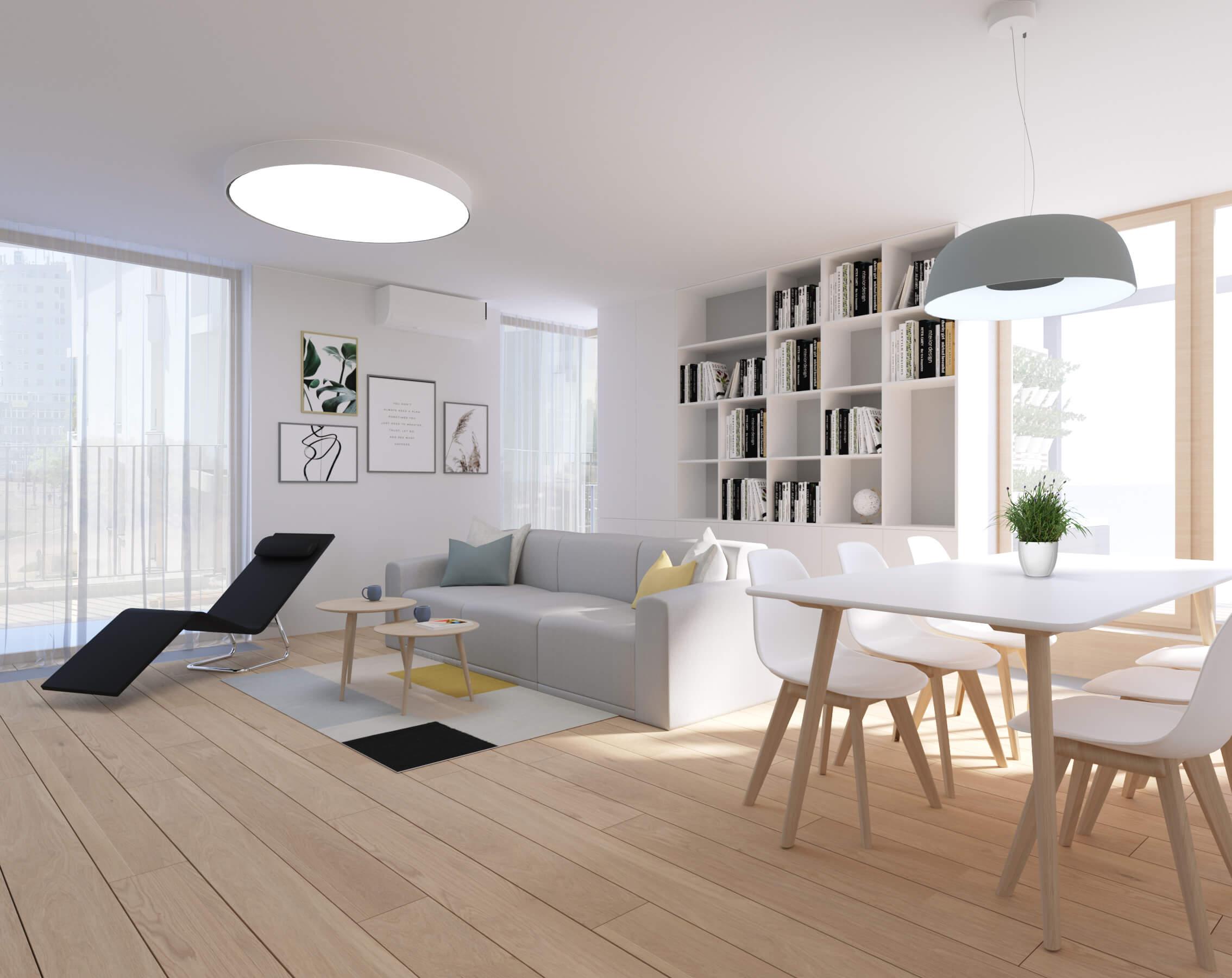 interierovy dizajn obývačka - bratislava, byty Nido