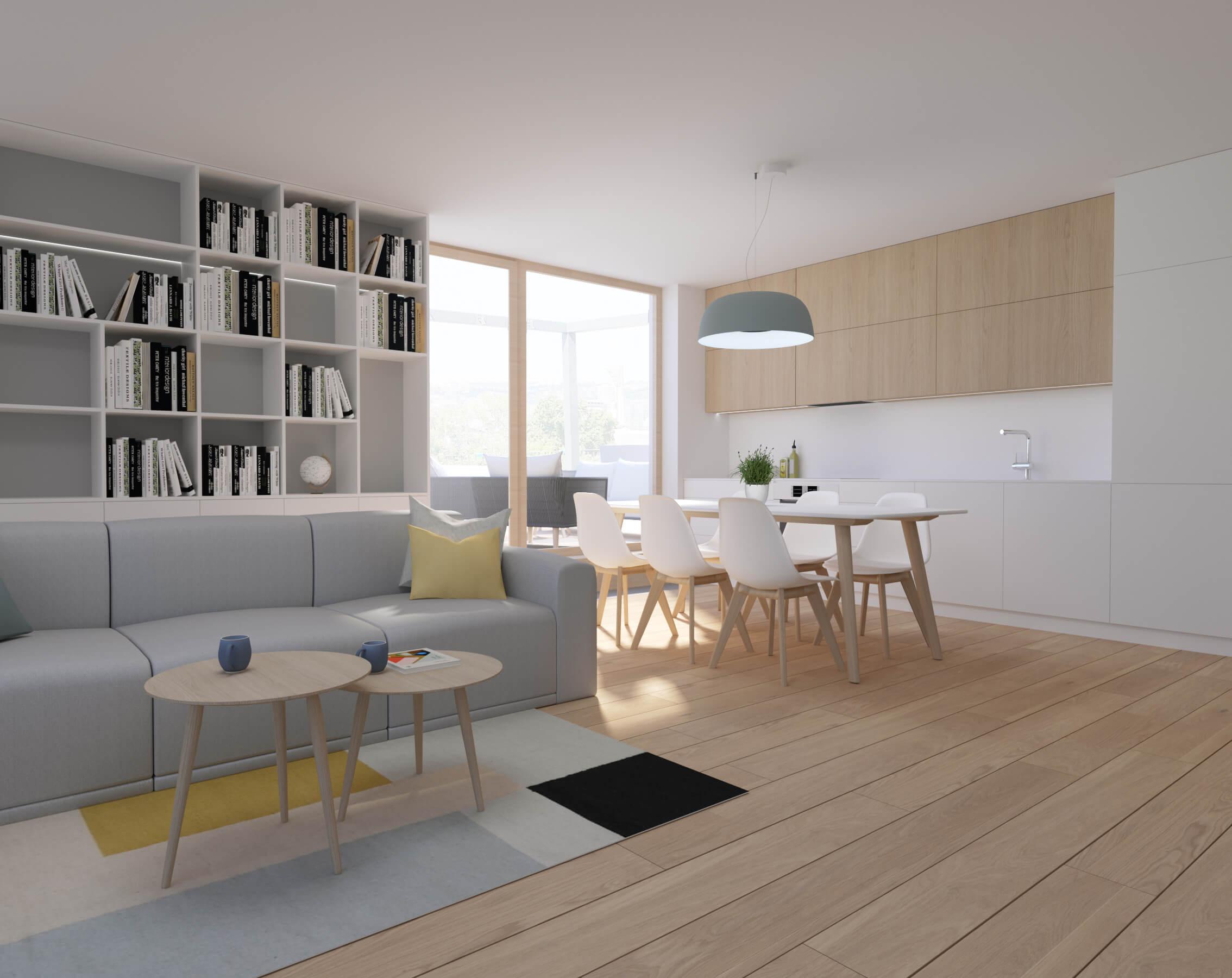 interierový dizajn kuchyňa - vizualizácia, projekt, byty Nido