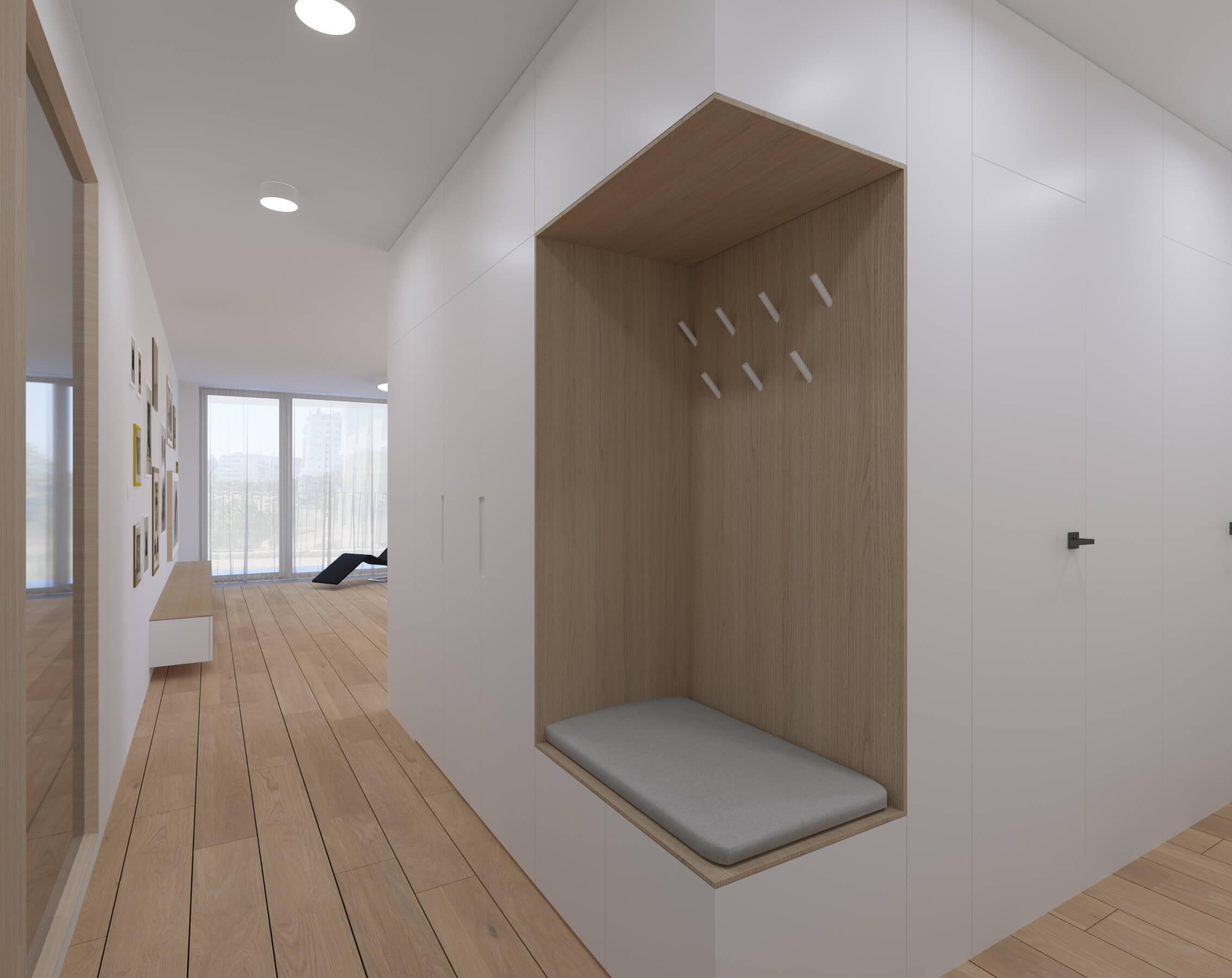 interierovy dizajn chodby - vizualizácia, bratislava