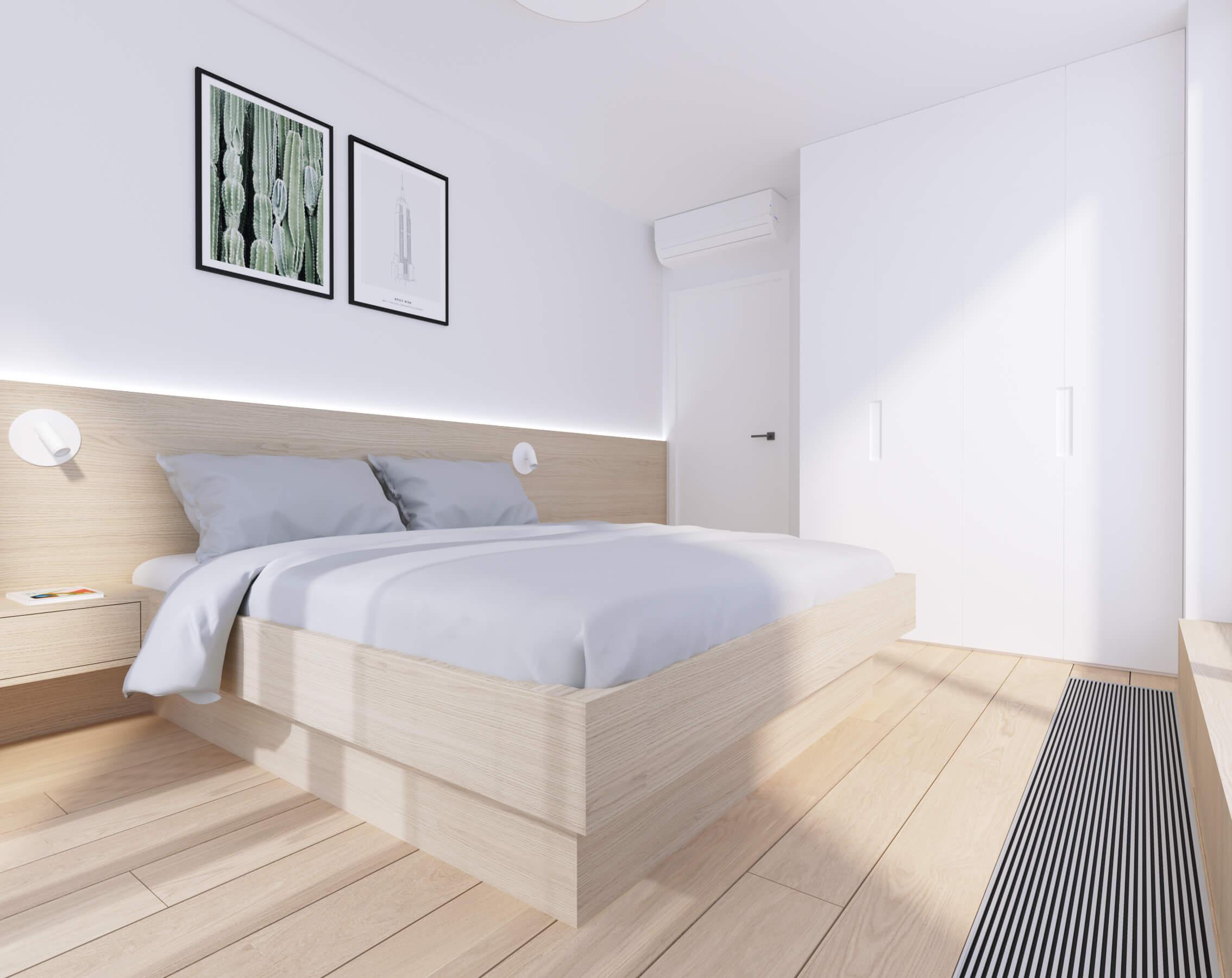interierovy dizajn spálňa - byty Nido, Bratislava