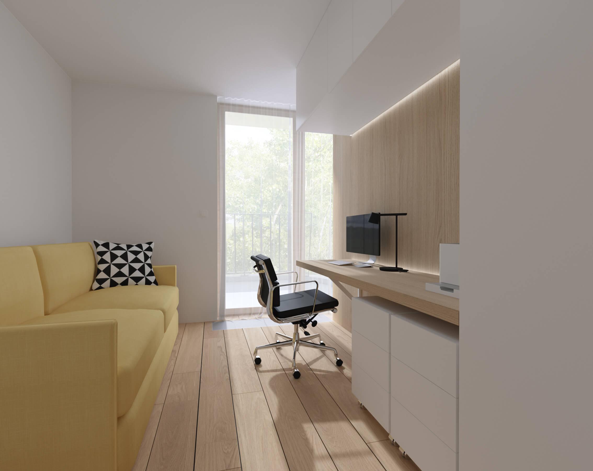 interierovy dizajn kancelária - byty Nido, Bratislava