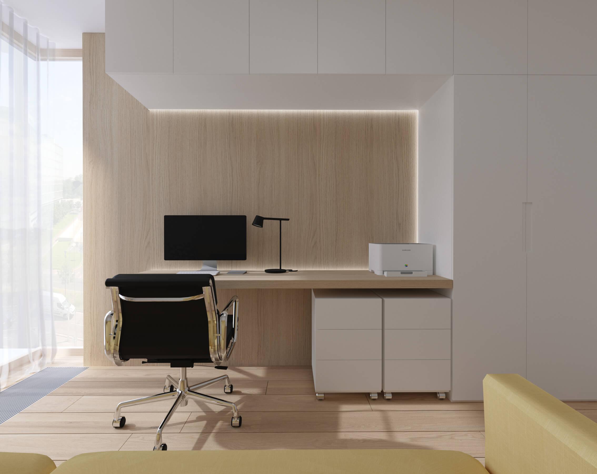 interierovy dizajn kancelária - projekt, vizualizácia