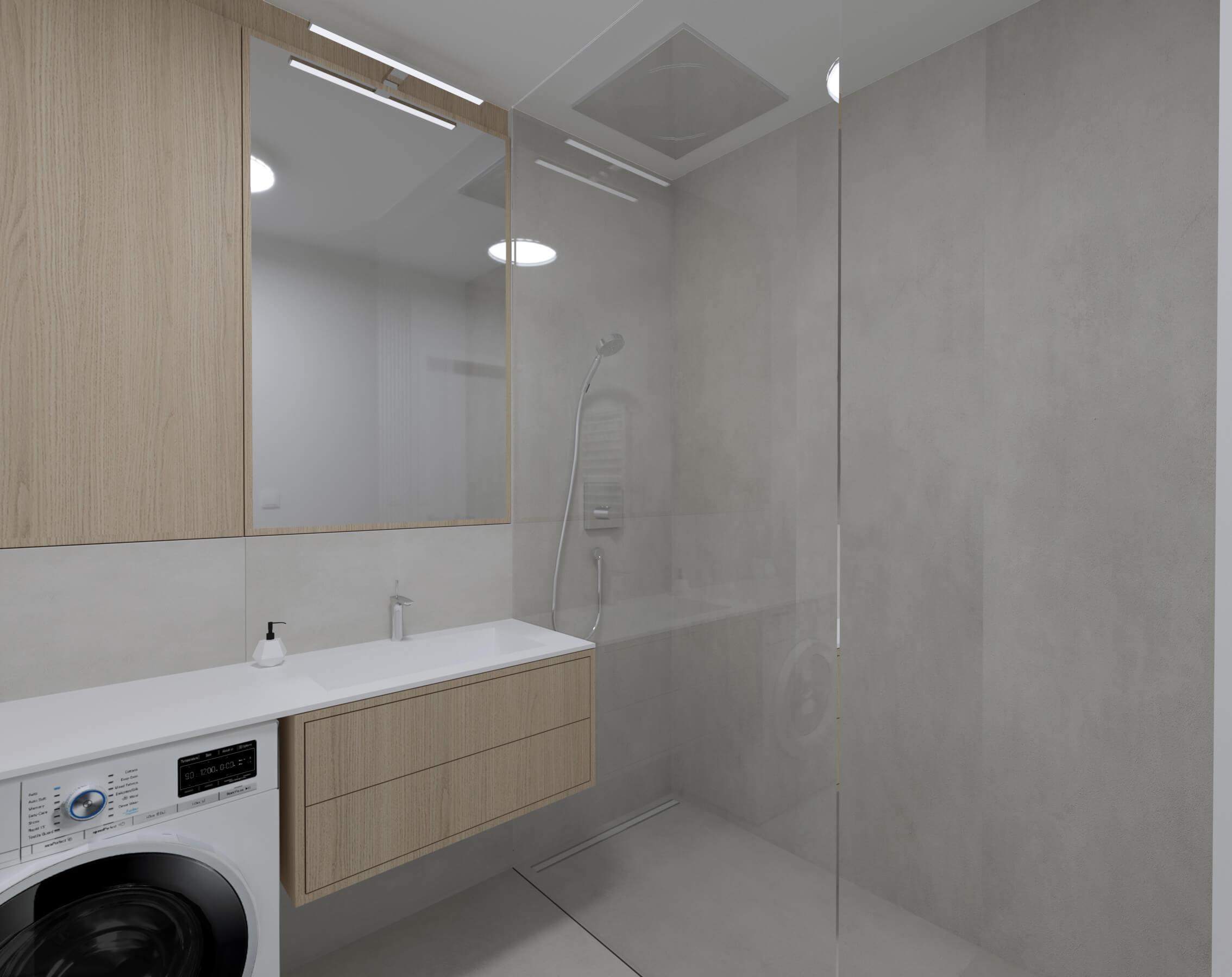 interierovy dizajn kúpeľňa - projekt, vizualizácia
