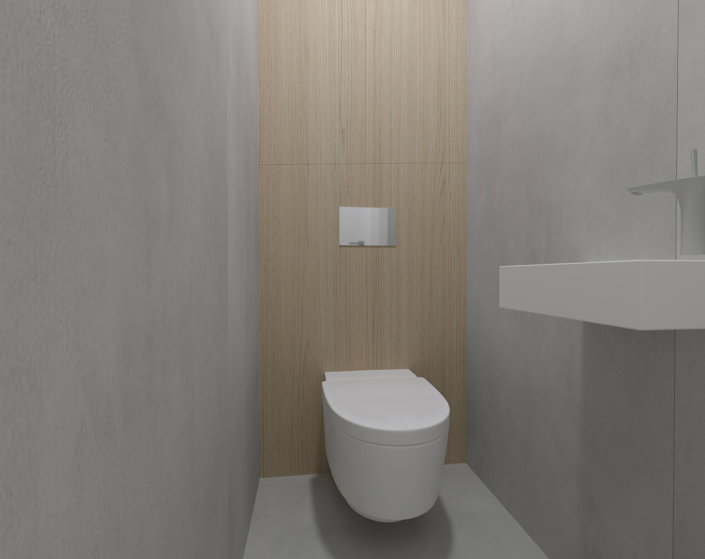 interierovy dizajn toaleta - projekt, vizualizácia